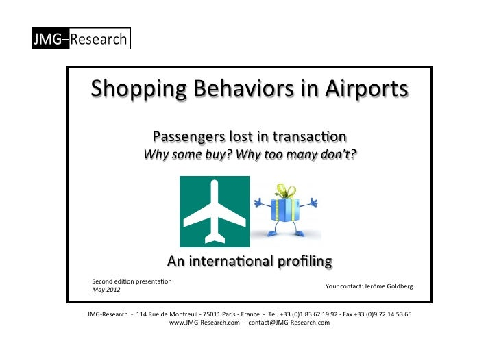 Shopping Behaviors In Airports - Info - May 2012