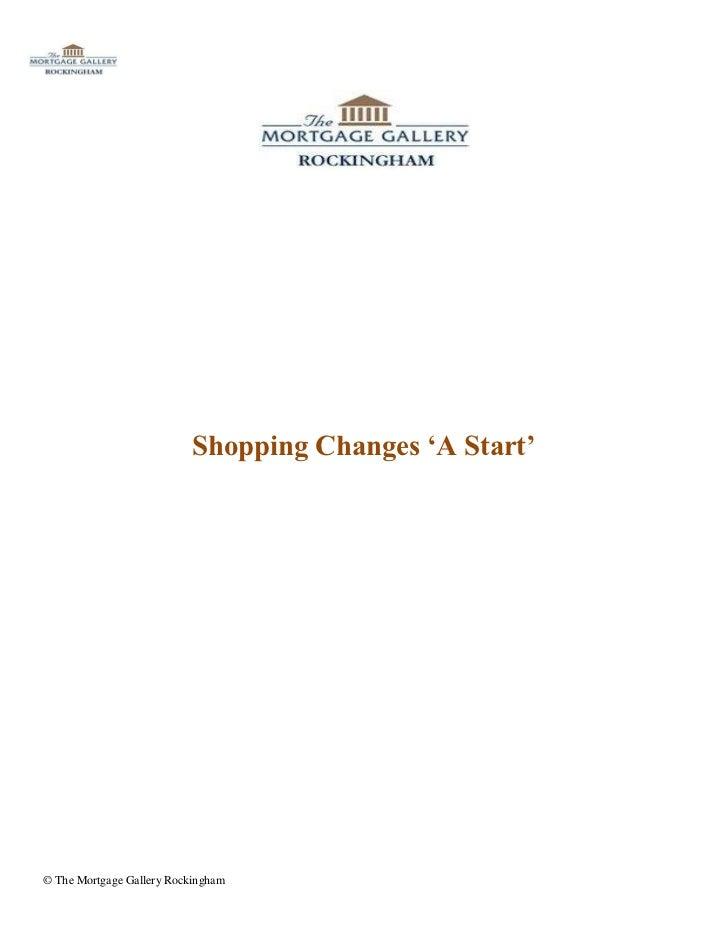 Shopping Changes 'A Start'