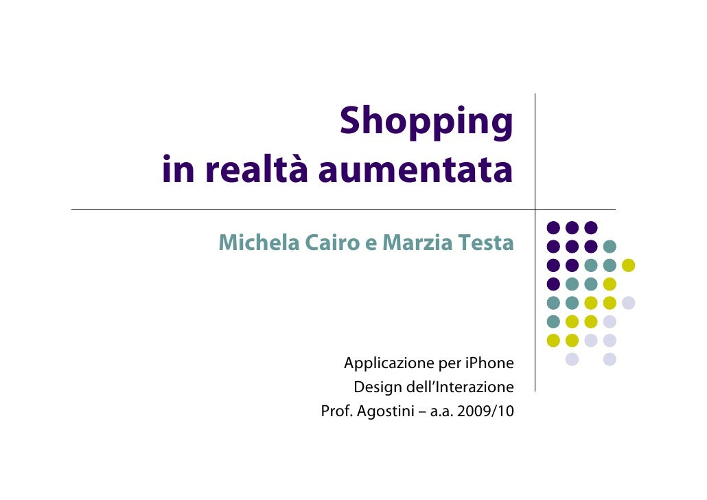 Shopping in AR_presentazione