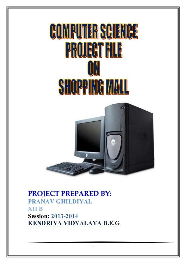 PROJECT PREPARED BY: PRANAV GHILDIYAL XII B Session: 2013-2014 KENDRIYA VIDYALAYA B.E.G  1