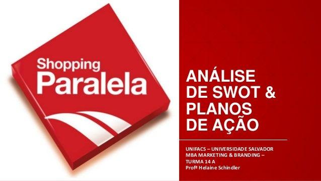 ANÁLISE DE SWOT & PLANOS DE AÇÃO UNIFACS – UNIVERSIDADE SALVADOR MBA MARKETING & BRANDING – TURMA 14 A Profª Helaine Schin...
