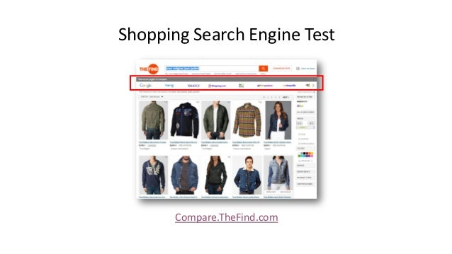 Shopping Search Engine Test Compare.TheFind.com