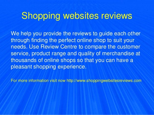 Shopping websites reviews