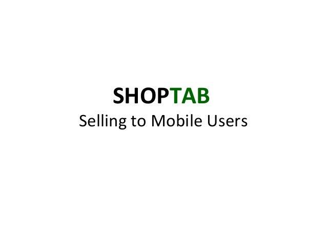 ShopTab Mobile Facebook Store
