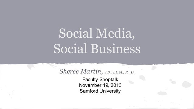 Teaching Social Business: My Faculty Shoptalk