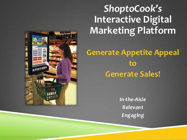 ShoptoCook's                                                       Interactive Digital                                    ...