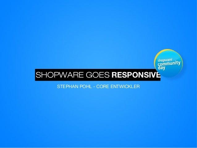 SCD13: Shopware goes responsive