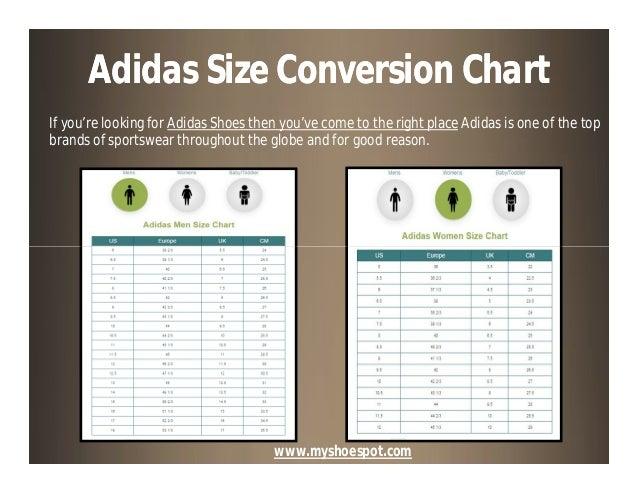 Adidas Shoe Size Chart Adidas Size Conversion Chart