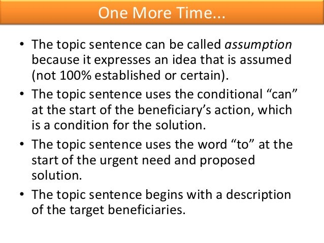 academic writing thesis sentence