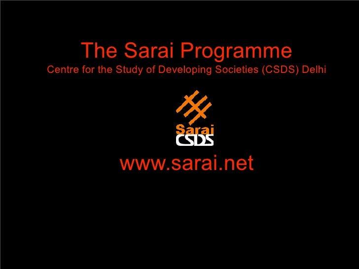 Short Sarai Presentation 2