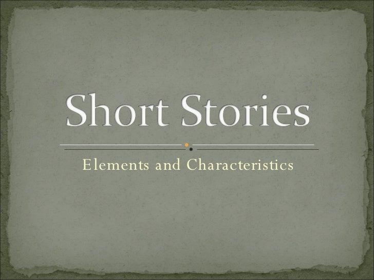 Elements and Characteristics
