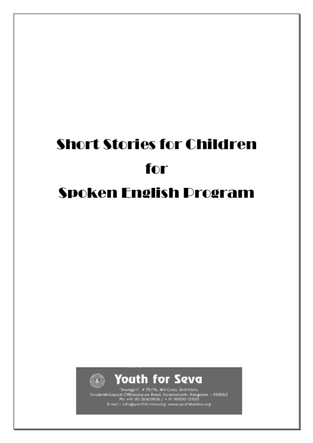 Short Stories for Children for Spoken English Program
