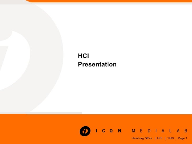 HCI Presentation