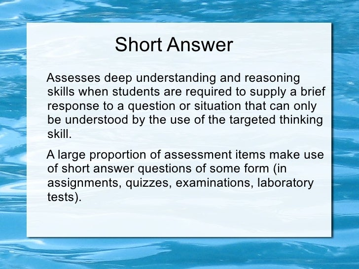 short answer and critical thinking essay How to write a critical essay a critical essay is an analysis of a text such as a book, film, article, or painting  asking a question that your essay will answer.