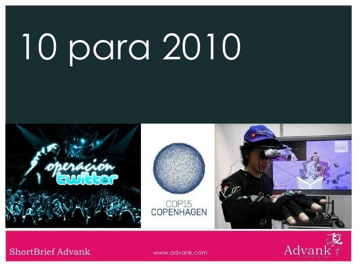 10 para 2010     ShortBrief Advank   www.advank.com