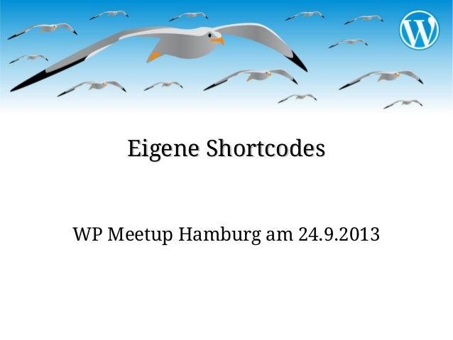 Shortcodes erstellen mit WordPress