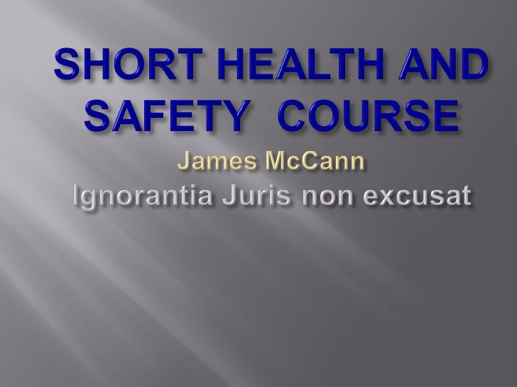Short Course By J Mc Cann