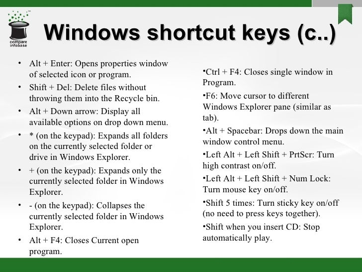 windows xp shortcut keys pdf free