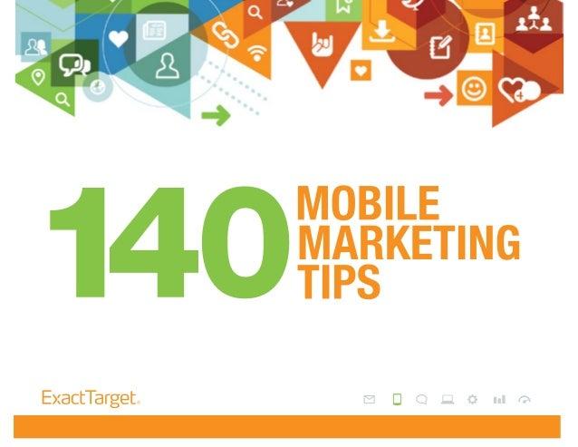 140 Mobile Marketing Tips