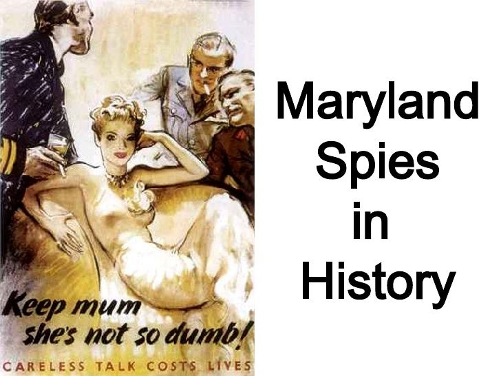 Maryland Spies in  History