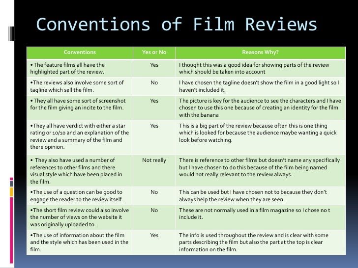 Review of film