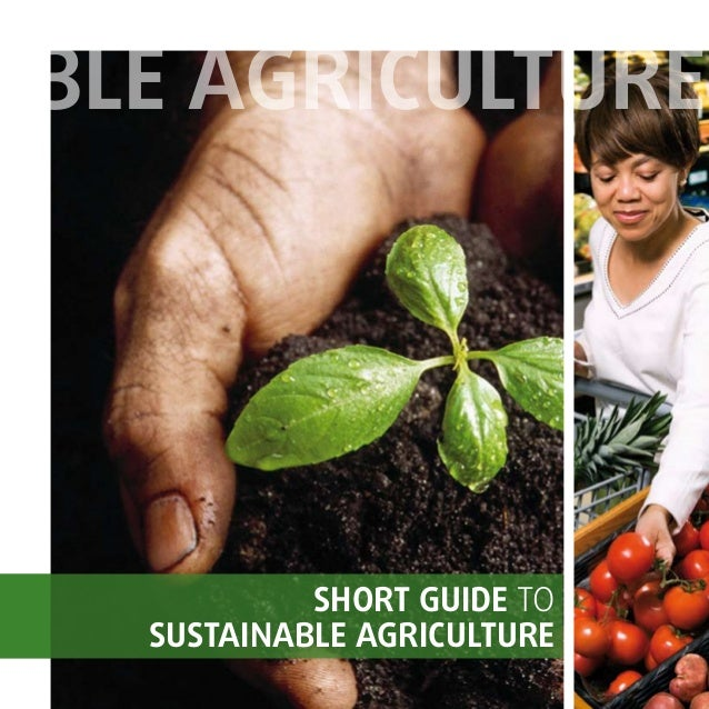 SHORT GUIDE TO SUSTAINABLE AGRICULTURE BLE AGRICULTURE