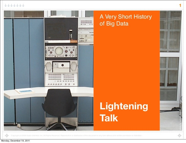 A (very) short history of big data