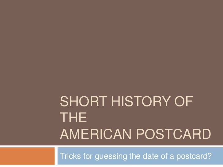 Short history of the postcard