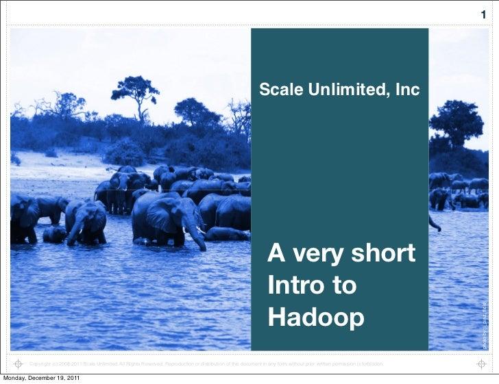 A (very) short intro to Hadoop