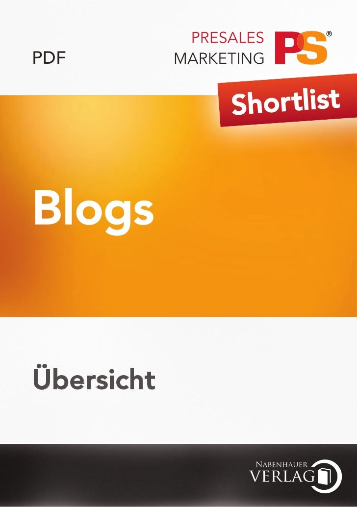 PDF            Shor tlistBlogsÜbersicht
