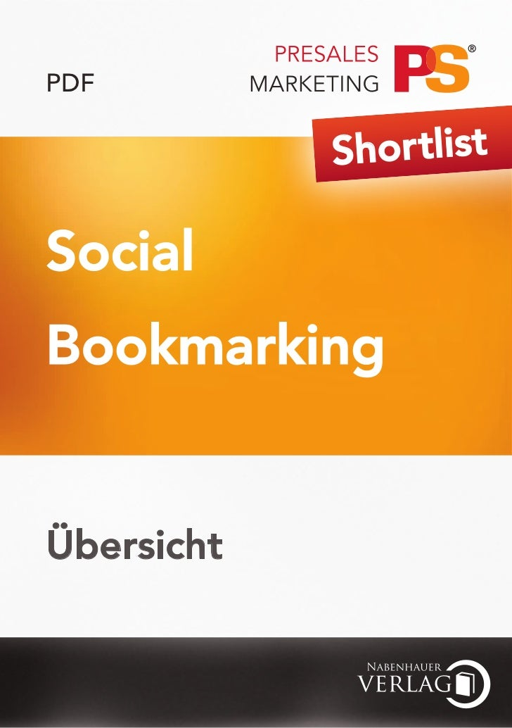 PDF            Shor tlistSocialBookmarkingÜbersicht