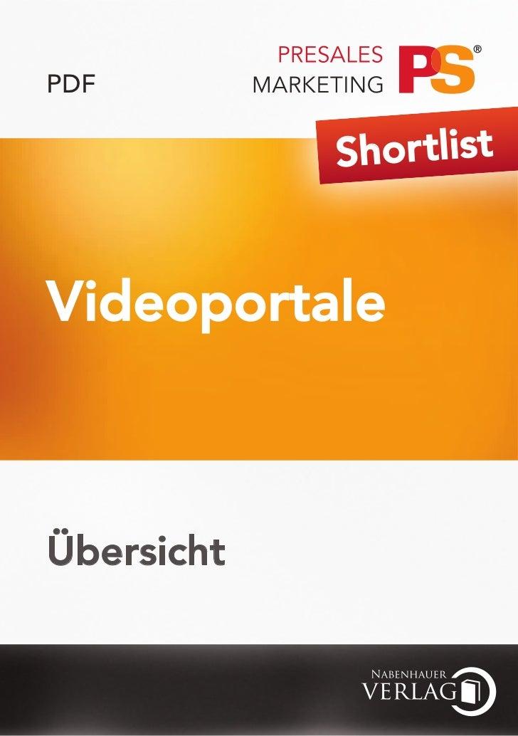 PDF            Shor tlistVideoportaleÜbersicht