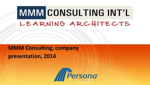 MMM Consulting, company presentation, 2014