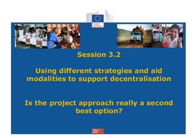 Short presentation by ecdpm on choice of aid modalities in support of decentralisation