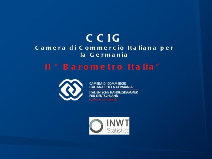 Barometro Italia - una breve presentazione
