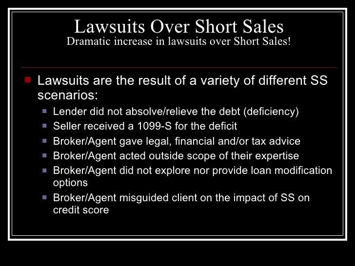 Short sale nightmares?