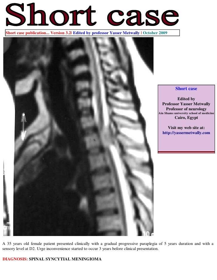 Short case publication... Version 3.2| Edited by professor Yasser Metwally | October 2009                                 ...