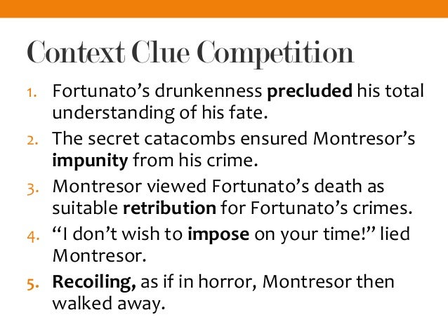 the unreliable narration of montresor Montresor-innocent victim or murdering psychopath please read the following definitions of the term unreliable narrator next, follow the directions.