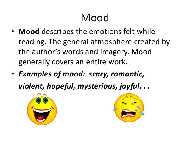 Mood literary term examples