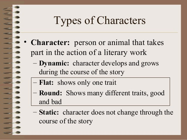 Round character vs flat character