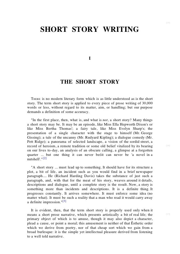 analytical essay on a short story