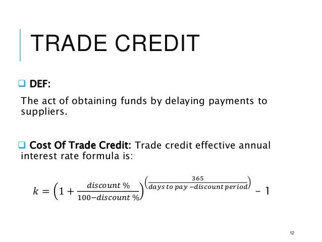 term paper short term financing Short-term trade finance is the best available however, the proxy covers only a portion of short-term trade finance flows, and thus the results reported here should be treated with care it is advisable to keep in mind the caveats outlined in the paper and to take away from this research general trends and insights.