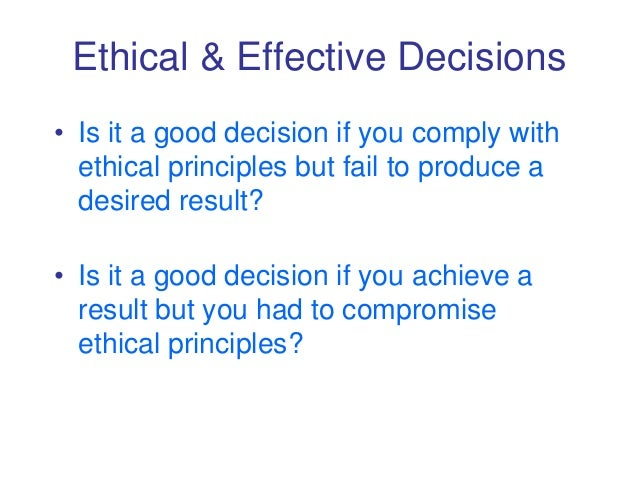 an ethical decision that i had 22022010 consequence of unethical decision making  (ethical) decision making is an  the regional team that knew of the issue for years and probably had.