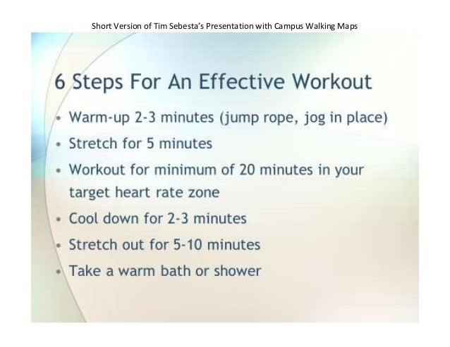 Short Version of Tim Sebesta's Presentation with Campus Walking Maps