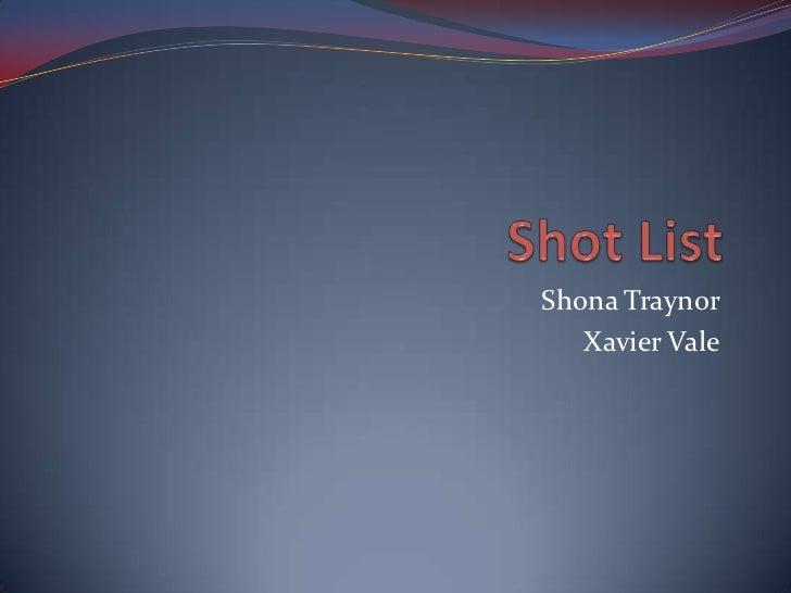 Shona Traynor   Xavier Vale