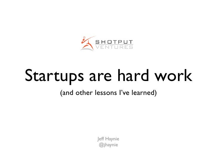 Shotput Ventures - Building startups are hard work