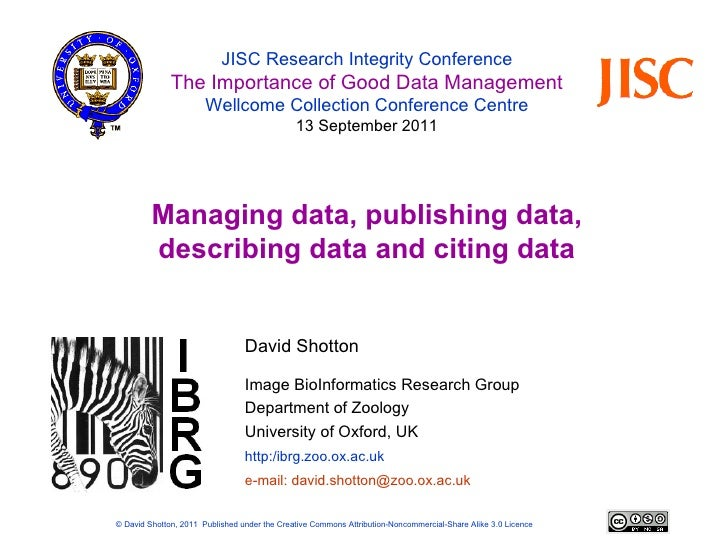 David Shotton - Research Integrity: Integrity of the published record