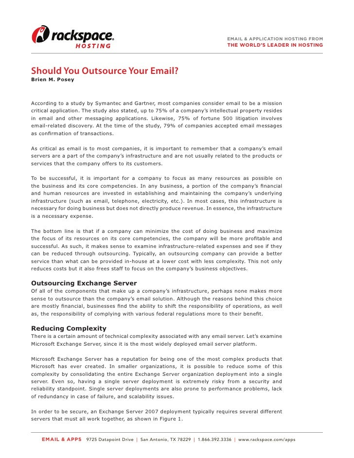 Should You Outsource Your Email?