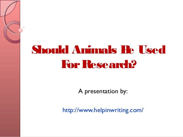 Research Sample Of Argumentative Research Should The Animals Be Used ...