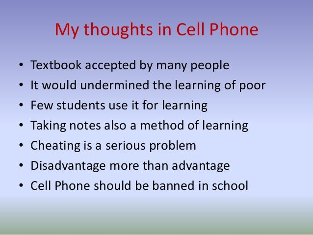 mobile phone should be allowed in school essay Should children be allowed use of their mobile phones during school hours or  should they be banned here are two side to the debate.